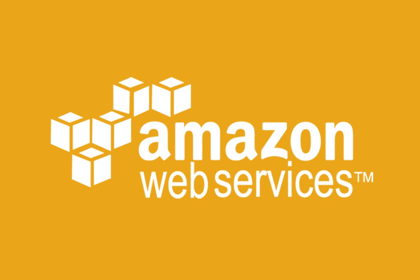 aws logo solid orange background