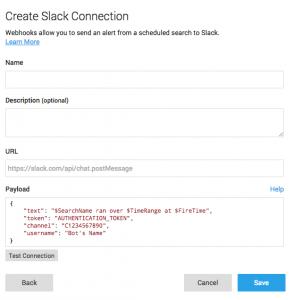 Create Slack Connection