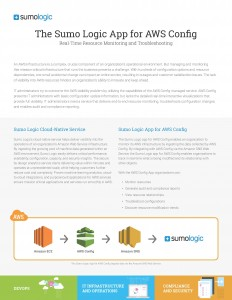 AWS Config solutions brief snapshot