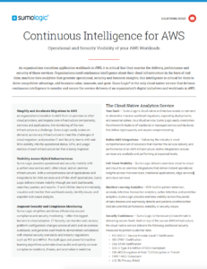Continuous Intelligence for AWS