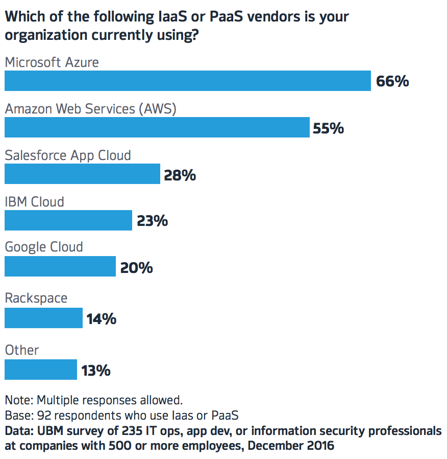 IaaS and PaaS vendors UBM surveygraph