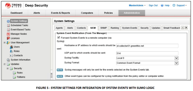system settings
