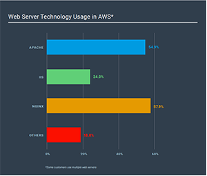apache logs vs nginx logs among top web servers on AWS