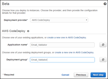 Using CodeDeploy to Deploy Instances of your Application