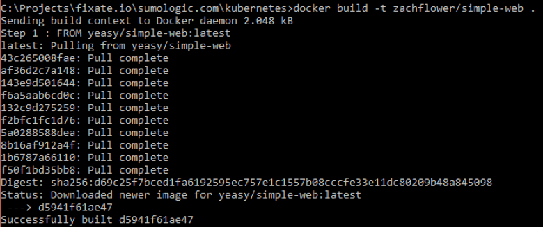 commands for Building Dockerfile