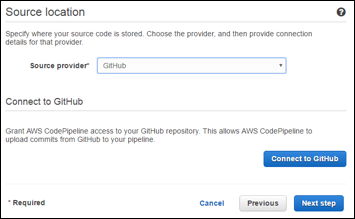 Setting the Source to a Github Repository